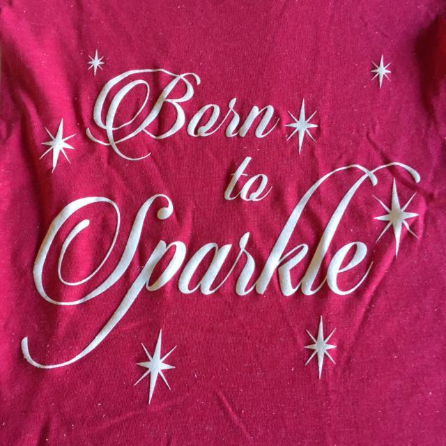 4646d4a64758 Sparkle Shop *NEW* Glitter Shirt – BORN TO SPARKLE | Hope Musical ...
